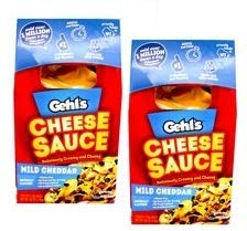 Gehl's Authentic Stadium Mild Cheddar Nacho Cheese Sauce (2 Bags, 50 Ounces Each) (Pack of 2)