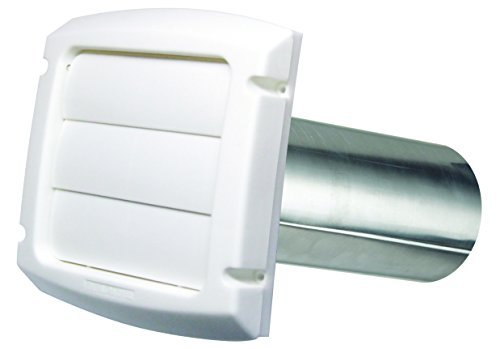 Dundas Jafine BPMH4WZW Vents, 4 Inch, White (Dundas Jafine Dryer Vent Hood)