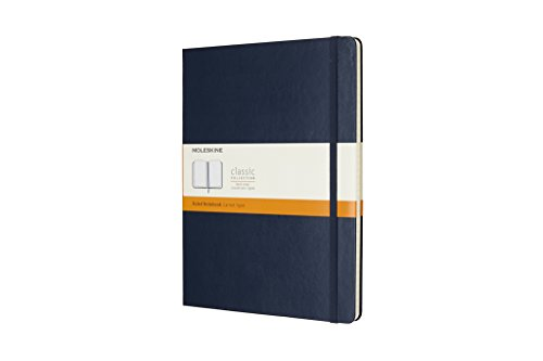 Moleskine Classic Hard Cover Notebook, Ruled, XL (7.5