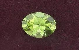 8x6 Oval Cut Peridot Gem Stone Gemstone Facet Faceted