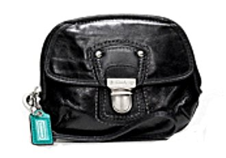 Amazon.com: Coach Poppy Calf Crinkle Leather Coin Case Purse ...