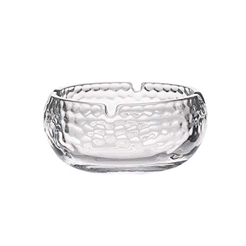 - ROLLYYG Ashtray Large Glass Creative Ashtray Home Transparent Personality Living Room Office Ashtray