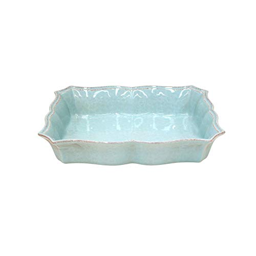 Casafina Stoneware Ceramic Impressions Collection Large Rect.Baker 14
