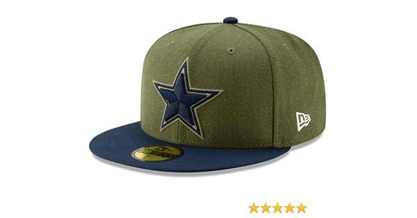 a19c3233fe9 Amazon.com   Dallas Cowboys New Era Salute to Service 59Fifty Cap   Sports    Outdoors