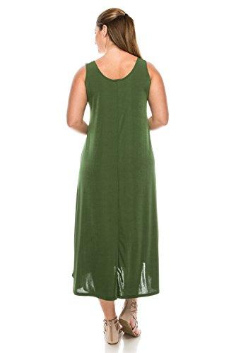Tank Women's Jostar Stretchy Long Olive Dress gTATq