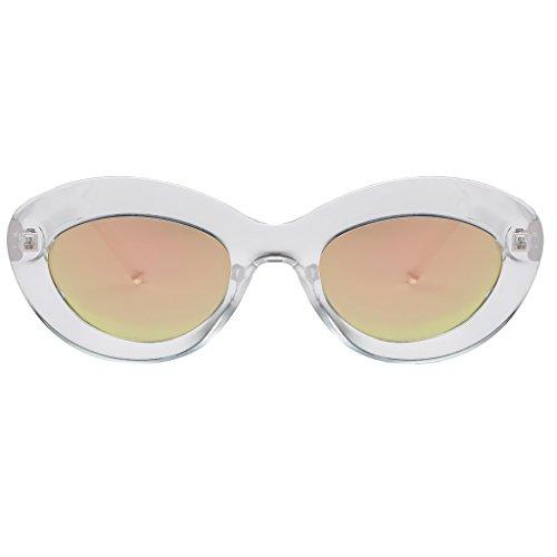 Gafa Sunglasses de Plástico Estilo 01 UV Hombre de Retro Marco Mujer 400 Baoblaze 07 para Sol dpnBdq