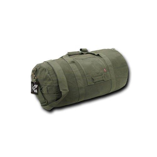 Rapiddominance Side Zip Duffle Bag, Olive, Medium