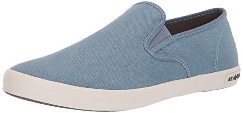 SeaVees Men's Baja Slip On Standard Sneaker, Blue Mirage, 10 M US