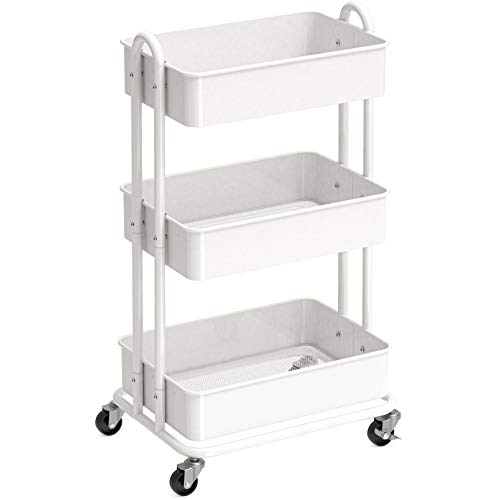 SimpleHouseware Heavy Duty 3-Tier Metal Utility