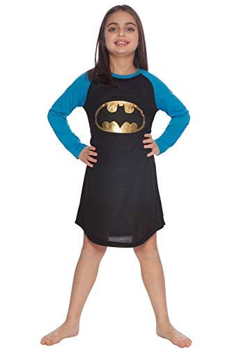DC Comics Girls 'Batman Batgirl Gold Foil' Pajama Gown, Black, -