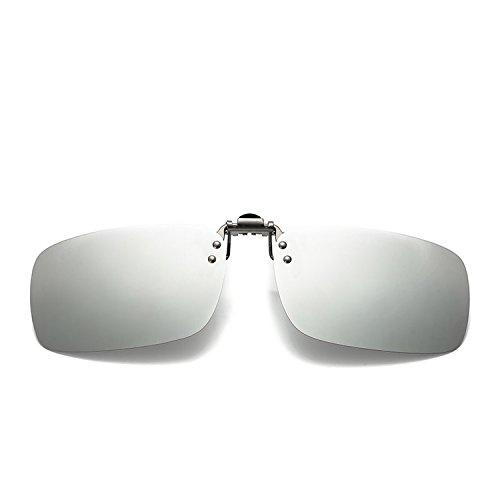 Ablaze-Jin sunglasses polarized clip flat mirror clip polarizer box myopic glasses night vision ()