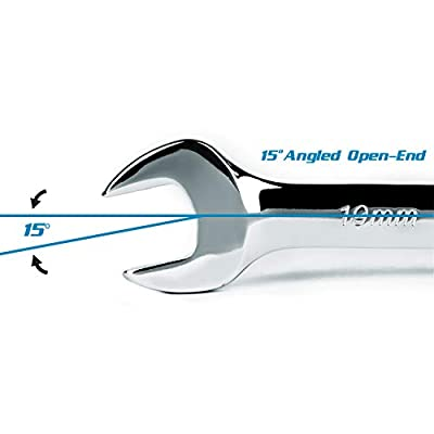 Capri Tools SmartKrome 15 mm Combination Wrench, 12 Point, Metric