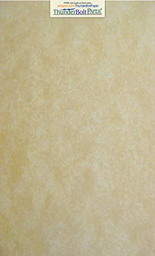 (50 Old Age Parchment 60lb Text Weight 8.5 X 14 inches Stationery Paper Colored Sheets Legal Size -Printable Old Parchment Semblance)