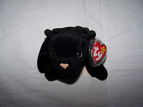 TY Beanie Babies Velvet the Cat Stuffed Animal Plush Toy - 6 1/2 inches long - Black - Style 4064 from SmartBuy