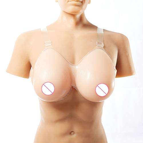 BESKING 1000/pair Silicone Breast Form D Cup Falsie Breast Forms for Crossdressers Dressed As Woman