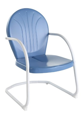 Crosley Furniture Griffith Metal Outdoor Chair   Sky Blue