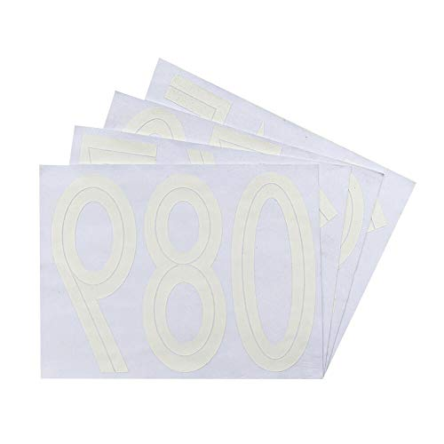Magfok Iron on 8 Inch Numbers White Transfer for Clothing, 4 Sheet (Black or White Optional)