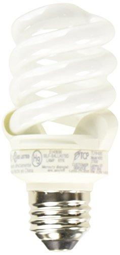 TCP 48913 CFL Pro A - Lamp - 60 Watt Equivalent (13W) Soft White (2700K) Full Spring Lamp Light Bulb (Flourescent Small One Light)