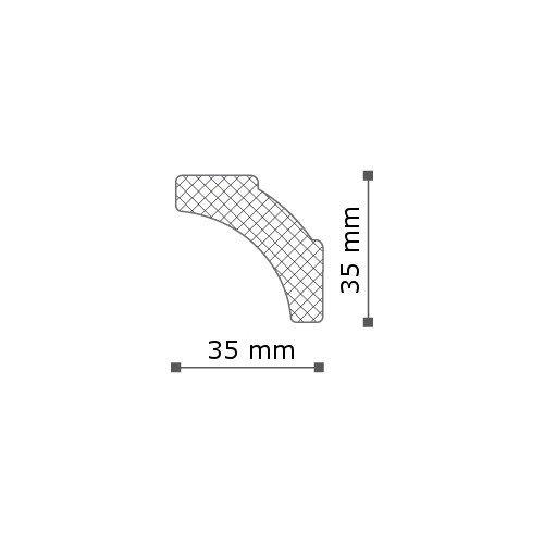 20 metros Cornisa Moldura para techo NMC NOMASTYL/® Plus - B2 decorativa