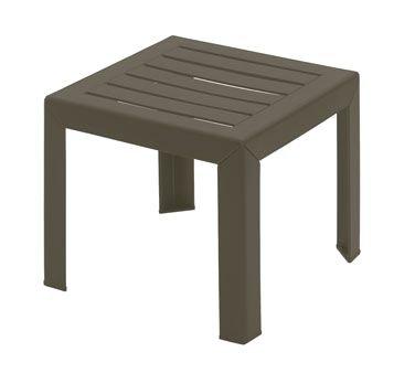 Grosfillex Bahia 16X16 Low Table Bronze Mist