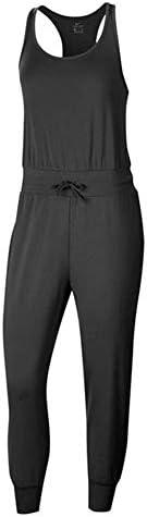レディース ヨガ ジャンプスーツ ブラック/(ダークスモークグレー) CJ5281 010