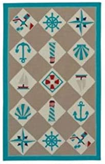 product image for Capel Rugs Anthony Beretta Seafaring Area Rug 8' x 10' Light Tan