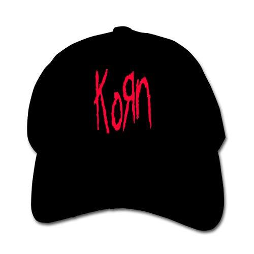 3DmaxTees Korn Child Adjustable Peaked Hat Hip Hop Flat Bill Baseball Hats Cotton Peaked Cap Black ()