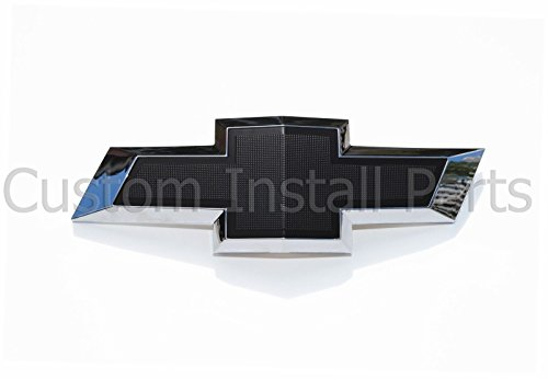 Textured Black Bowtie Emblem Fits 2010-2013 Chevrolet Camaro Rear Trunk Lid