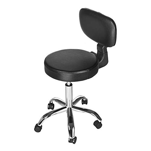 Sonmer Modern Simple Hydraulic Lift Round Office Chair, with Adjustable Backrest,360° Free Rotation,Pulley Aluminum Alloy Prong Base, Explosion-Proof Chassis by Sonmer (Image #5)