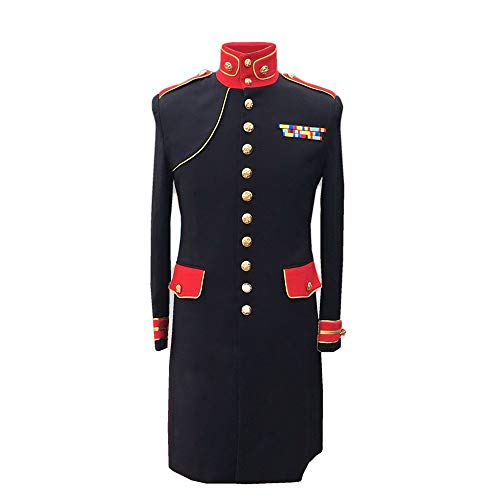 UniqueNO1 Michael Jackson Jacket Black Informal Military Woolen Clothing Winter Jacket (L)