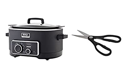 Ninja 3-in-1 Cooking System [MC750] Slow Cooker with Emeril Stainless Steel Scissor