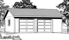 Garage Plans 2 Car Garage Plan 672 4 28 39 X