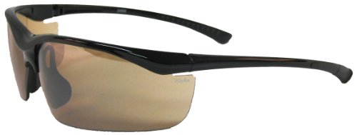 Kele by NYX Torch Sunglasses, Brown Frame/Amber - Nyx Golf Sunglasses