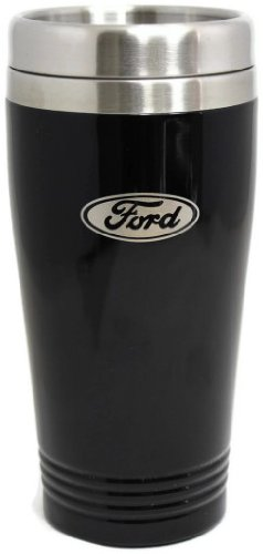 Ford Travel Mug Travel Coffee Mug Cup Stainless Steel Tea Mug Thermo - Black