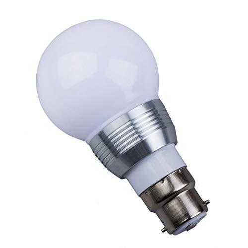 B22 3W 16 Colors Changing RGB LED Mood Spot Light Lamp Bulb + IR Remote Control