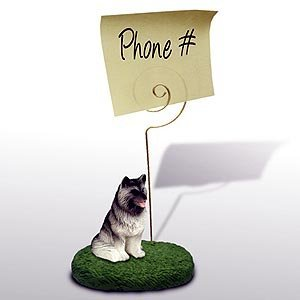 (Keeshond Note Holder by Conversation Concepts)