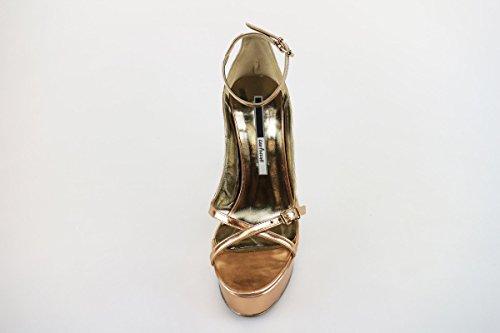 MANAS sandali donna 37 EU rame pelle lucida AH920