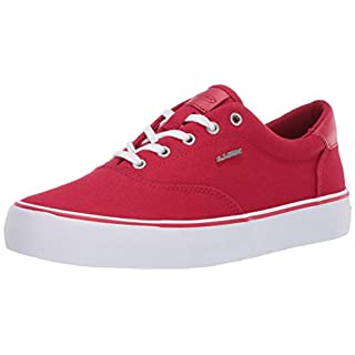 Lugz Men's Flip Classic Canvas Low Top Fasion Sneaker, Mars Red/Salsa/White 7.5 M US