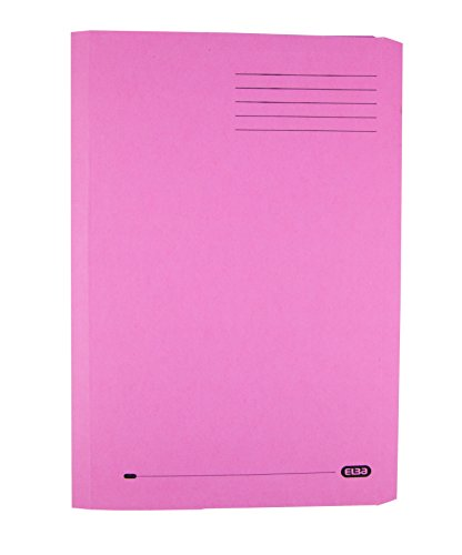 Elba Clifton Flat File with Front Pocket 315gsm Capacity 50mm Foolscap Pink Ref 51217 [Pack of 25]