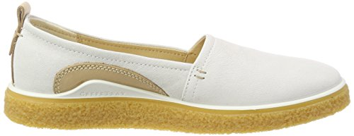 Ecco Donna Crepetray Slip On Mocassino, Bianco, 42 Eu Medio (11-11,5 Us)