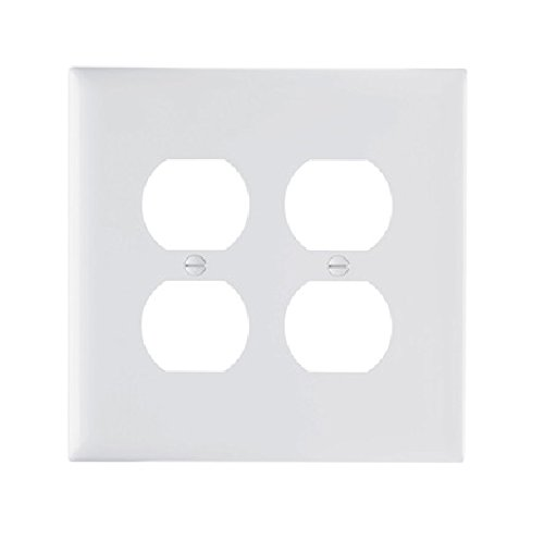 Pass & Seymour #TPJ82WCC10 White 2G DPLX Wall Plate