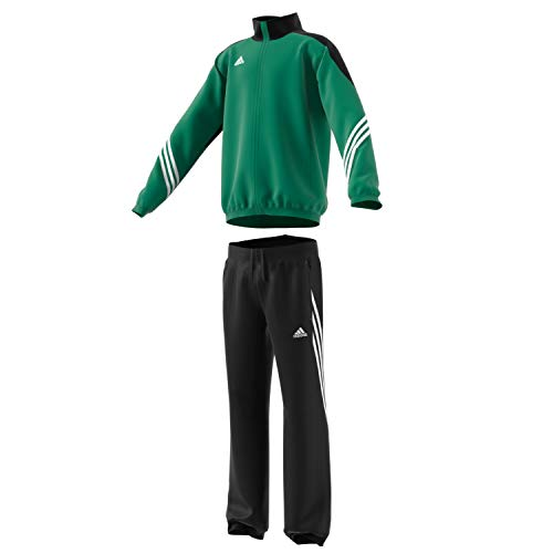 Training Presentation Suit - adidas Boys Tracksuit Woven Sereno14 Boys Presentation Football Training Suit Green/Black 7-15 Years F49682 (128cm (Small Youth))
