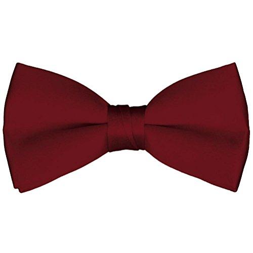 Apple Tie (Boys' & Adult Deluxe Satin Adjustable Bow Tie By Tuxgear (Boys, Apple Red))