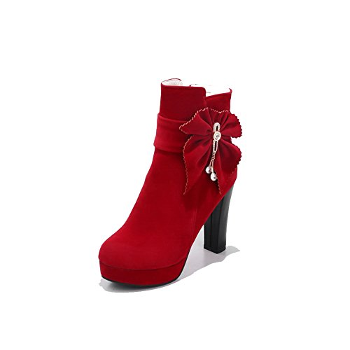ANDku01905 Rosso EU Donna 35 Zeppa Red Sandali con AN qW8dOCO