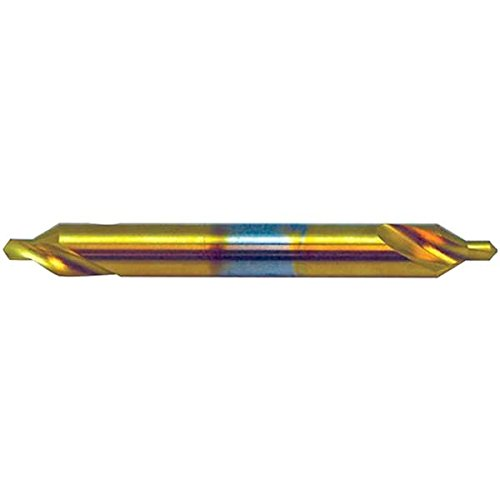 KEO 24550-TiN #4-1/2x5 RH Combined Drill and Countersink, 0.375'' Cutting Diameter, 60 Degree Cutting Angle, 5'' Cutting Length, 5'' Length, HSS, TiN, Long Series (Pack of 12) by KEO