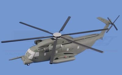 MH-53J Pave Low (USAF) Aircraft Model Mahogany Display Model / Toy. Scale: 1/59