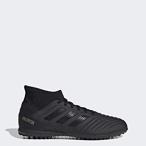 adidas Unisex Predator 19.3 Turf Soccer Shoe, Black/Gold Metallic, 5 M US Big Kid