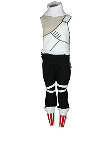 Mtxc Men's Naruto Cosplay Costume Killer Bee 1st Size L-Plus White