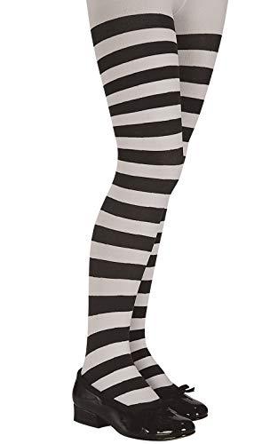 Rubie's Costume Co Child White/Black Stripe Tights Costume Size (Small) -