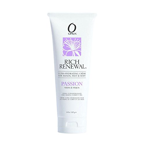 """Orly Rich Renewal Hydrating Creme For Hands, Feet & Body """"Passion"""" 2 oz"""